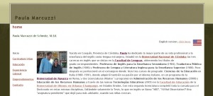 Paula Marcuzzi Personal Website (Spanish, 2006)
