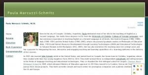 Paula Marcuzzi-Schmitz Personal Website (2006)